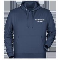 Navy Kapuzen-Pullover individuell besticken lassen