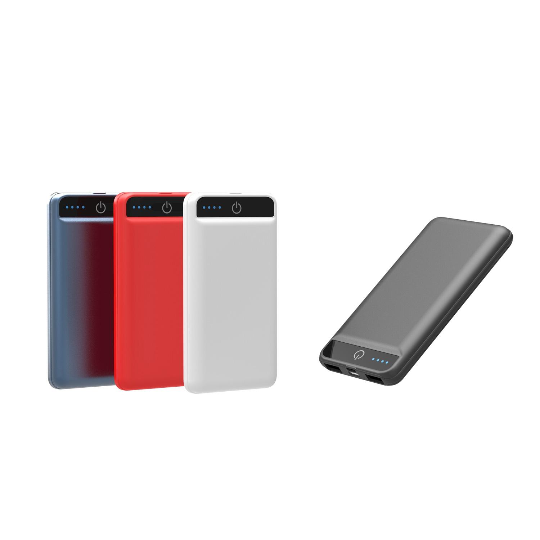 Wireless Charger USB C Powerbank schwarz weiß rot blau