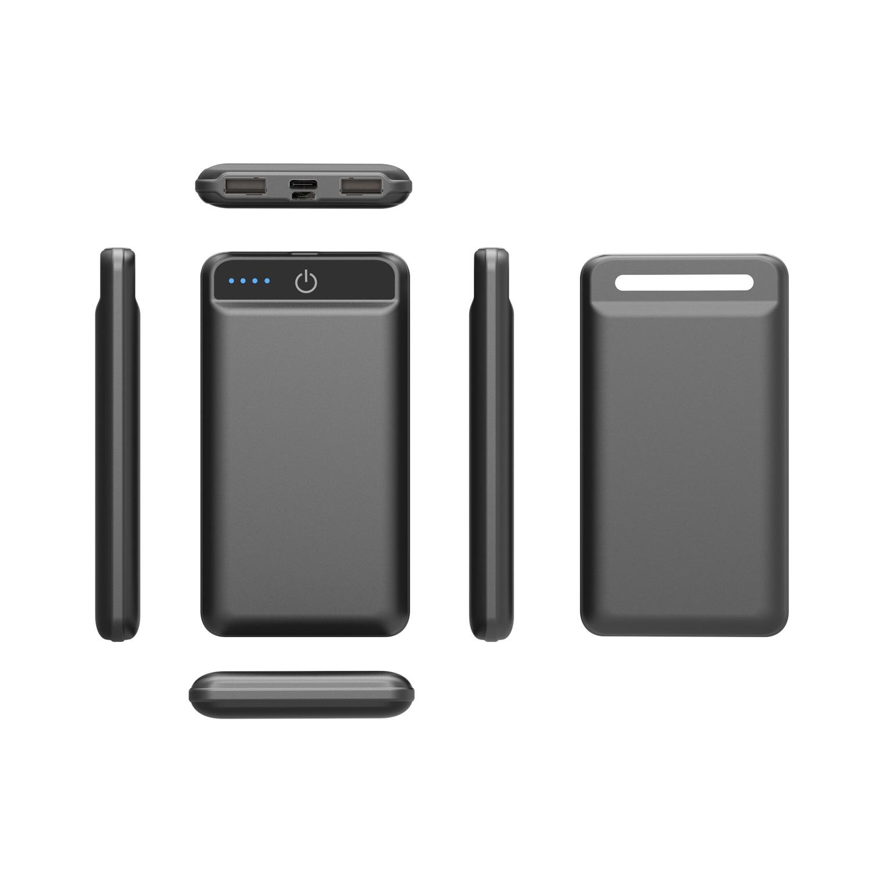 Wireless Charger USB C Powerbank schwarz