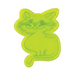 Reflektoren-Werbemittel: Katzen als Aufkleber für Jacken und Taschen.
