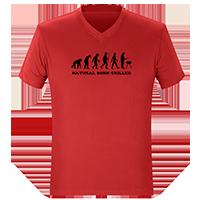 Rote T-Shirts on Demand bedrucken lassen