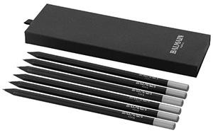 Schwarze Bleistifte bedrucken lassen mit Logo