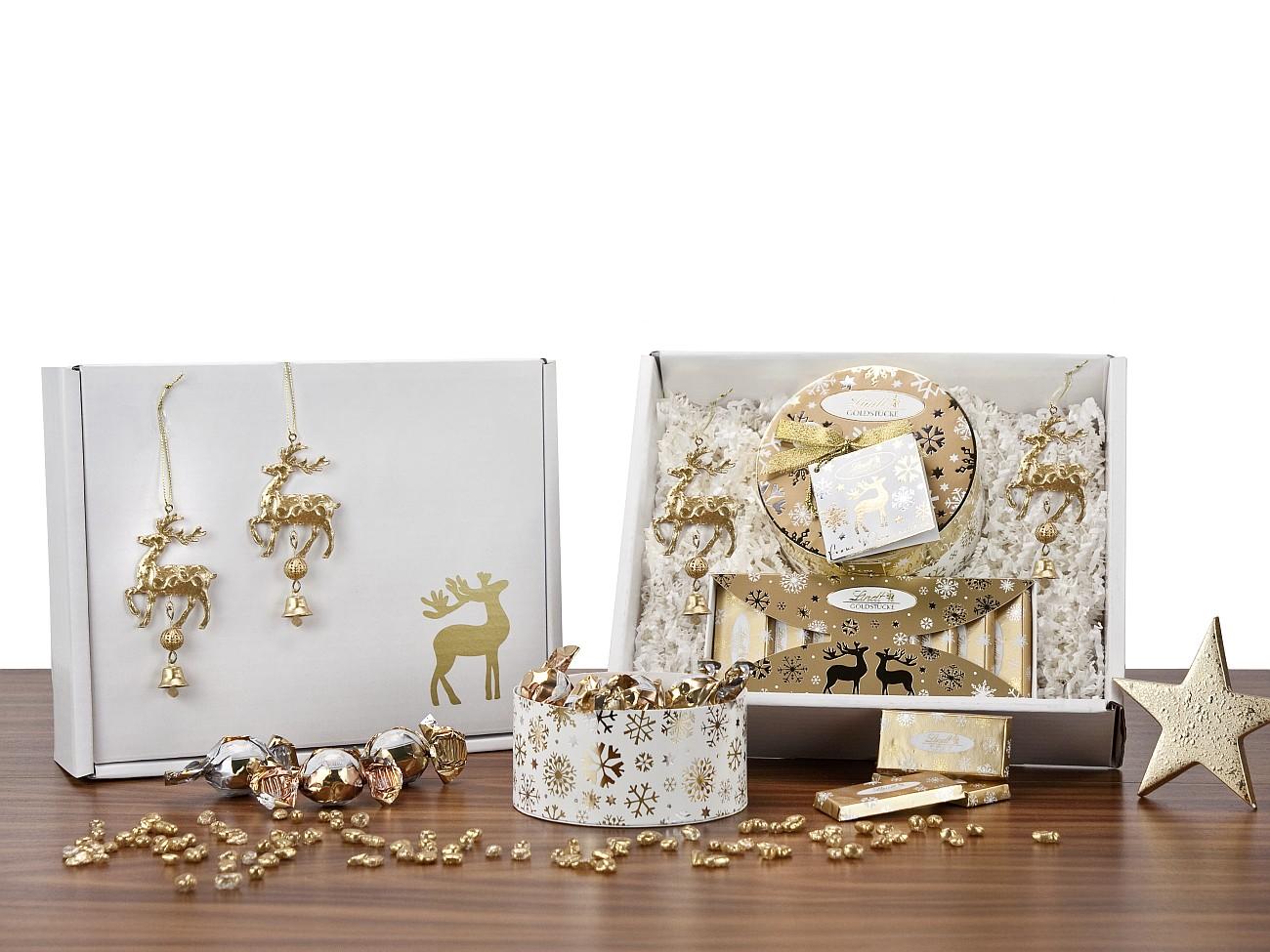 goldst cke lindt werbegeschenk zu weihnachten presit. Black Bedroom Furniture Sets. Home Design Ideas