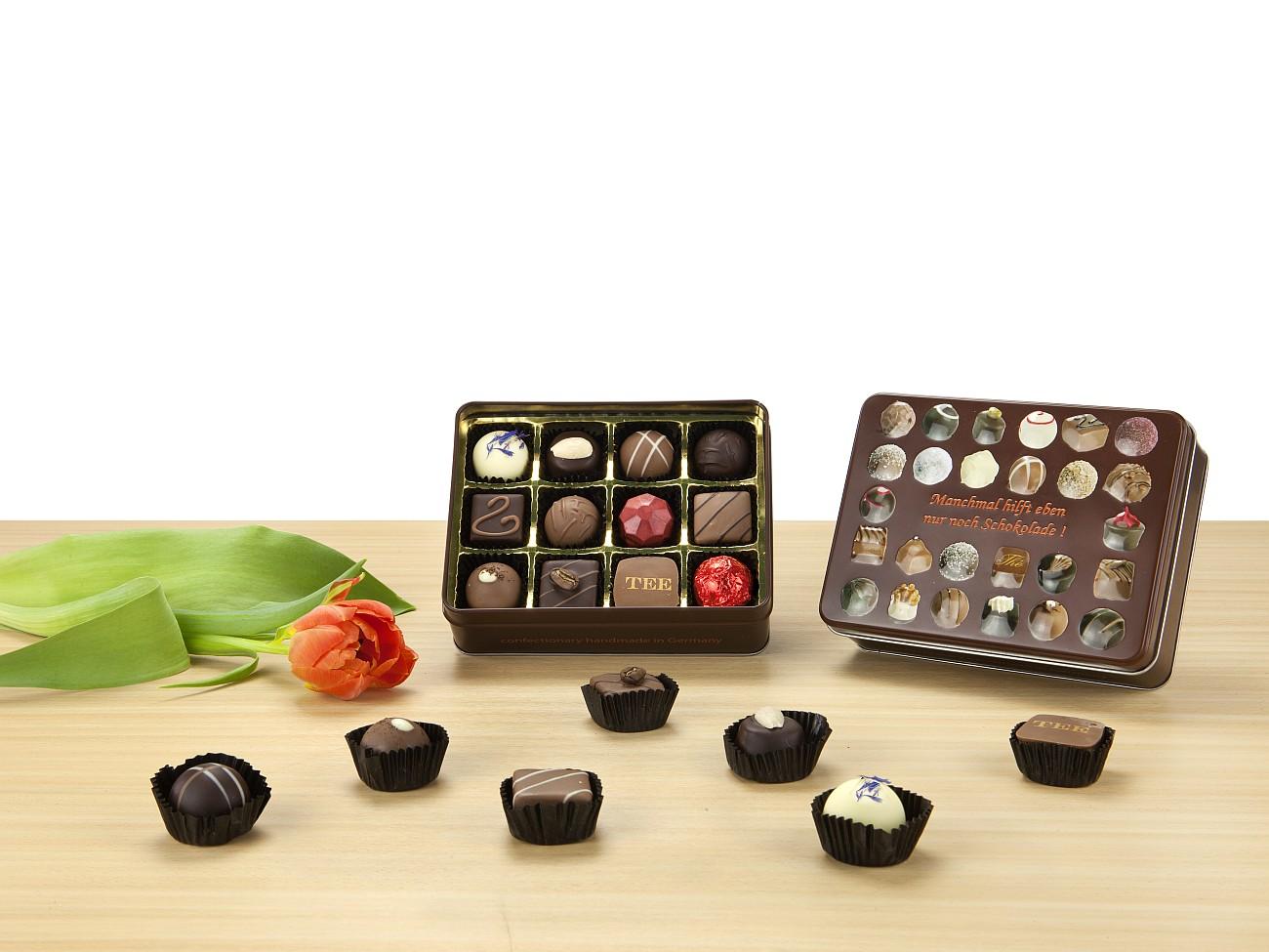 schokoladenauswahl werbegeschenk zu weihnachten presit. Black Bedroom Furniture Sets. Home Design Ideas