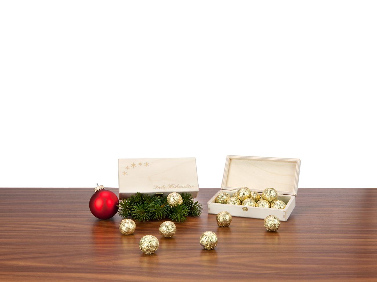 l ngliche tr ffel kiste werbegeschenk zu weihnachten. Black Bedroom Furniture Sets. Home Design Ideas