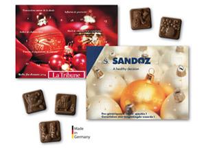 Werbegeschenke zu Weihnachten - Individuellen Adventskalender bedrucken.